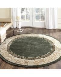 6 foot round rug. Safavieh Hand-hooked Total Perform Slate/ Ivory Acrylic 6 Foot Round Rug - N
