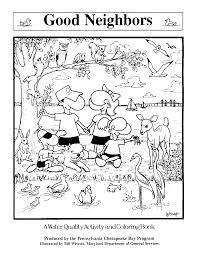 Love Thy Neighbor Coloring Page With Hello Neighbor Coloring Pages