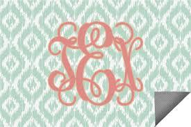 monogram indoor outdoor rug 2 x3 personalized
