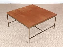 modern square coffee table. Mid-Century Modern Square Coffee Table In Teak And Brass By Paul Mc Cobb