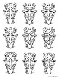 Print Adult Africa Masks Identicals Coloring Pages Evil Witch Funny Coloring Book Artlll L
