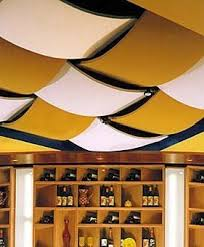 fabric-covered-acoustic-ceiling-tile-16381 | Tile ideas, Fabric covered and  Basements