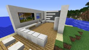 Minecraft Modern Kitchen How To Make A Modern House Kitchen In Minecraft Youtube