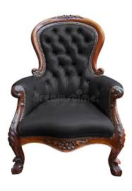 vintage black leather armchair with clipping path stock photo image of natural isolated