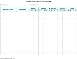 Weekly Employee Hour Shift Schedule Template Word Roster