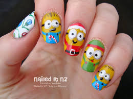 Christmas Minions | Nail Art Inspired by Despicable Me
