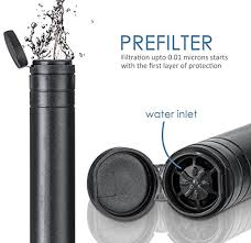Personal Water Filter Oak Leaf Portable Emergency Survival Camping