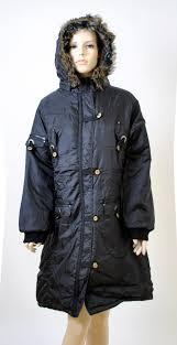 plus size parka ladies plus size parka coat with fur trim hood