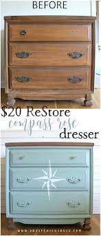 $20 ReStore Compass Rose Dresser Makeover