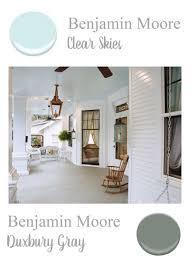 benjamin moore paint colors porch ceiling clear skies porch floor duxbury gray