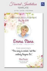 Funeral Invitation Templates Memorial Service Invitation Template Purplemoonco 17