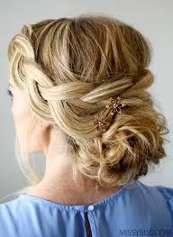 Braided Updo Hairstyles 60 Wonderful Wispy Braid And Low Bun