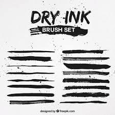 Dry Ink Brush Set Vector Free Download