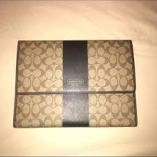 belk business portfolio leather case coach accessories signature planner m