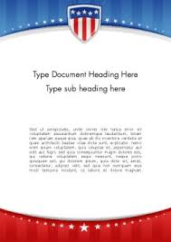 Word Background Template Patriotic Background Word Template