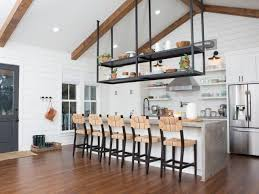 suspended shelves in a home on s fixer upper