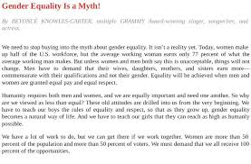 gender equality essays and papers helpme beyonce pens gender equality essay