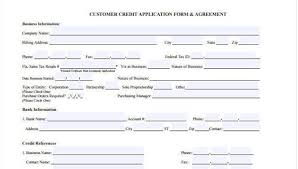 Free 9 Business Credit Application Form In Sample Example