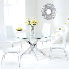 white glass table and chairs glass round dining table set round with regard to round glass dining table