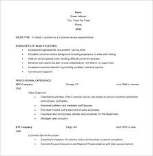 Resumes For Customer Service Jobs Free Customer Service Representative Resume Word Customer
