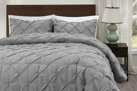 king size light gray master pinch pleat comforter set superbeddings