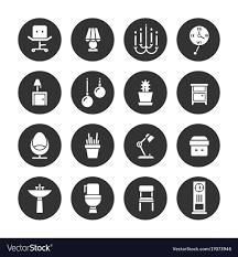 Icon For Interior Design Interior Design White Icons Collection