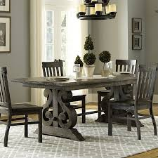 wood rectangular dining table. Magnussen Bellamy Traditional Wood Rectangular Dining Table In Pewter