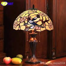 stain glass lamp best creative table light living room cute birds sea horse stained office stand
