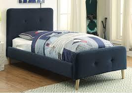 twin upholstered platform bed. Modren Platform Barney Navy Twin Upholstered Platform BedFurniture Of America To Bed I