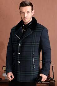 plaid cashmere amazing mens luxury pea coat