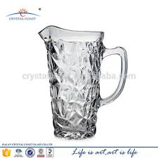 Decorative Water Pitcher Cheap Clear Decorative Iceberg Beer Water Glass Pitcher With 41