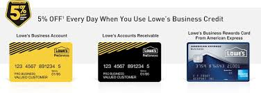 Lowes Business Credit Cards Lowes For Pros