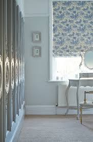 Shabby chic decor  Our Blue Cheese Roman blind features a gorgeous toile  design that is perfect for French and