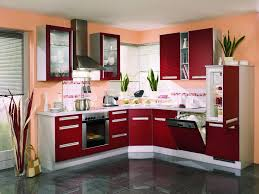 Red Kitchen Design Fancy Red Kitchen With Corner Design Ideafancy Red Kitchen With