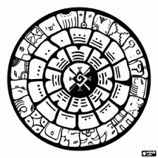 Small Picture Mayan Calendar coloring page Mayan project Pinterest Maya