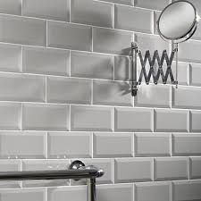 details about metro bevel matt white kitchen wall tiles 20x10cm