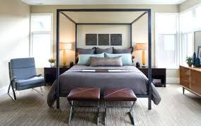 mens bed frames. Grey Comforter And Stylish Bed Frame With Leather Benches For Mens Bedroom Colors Frames