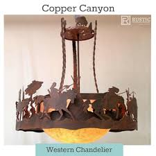 Carriage Lighting Canyon Country Copper Canyon Peg260 Western Chandelier Rustic Chandelier