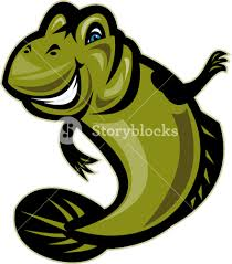 Goby Design Mud Skipper Or Goby Fish Cartoon Royalty Free Stock Image