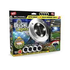Bell + Howell Disk <b>Lights</b> - Weatherproof <b>Solar</b> Powered <b>LED</b> ...