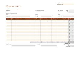 Expense Report Template For Excel 40 Expense Report Templates To Help You Save Money