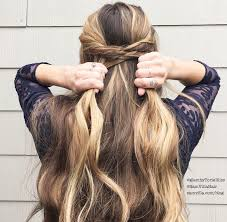 using triangle sections to create a fishtail braid will result in a softer boho hairstyle