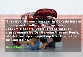 shiv khera quotes about life insurance and vacuum cleaners