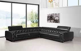 modern black leather couches. Genuine And Italian Leather, Corner Sectional Sofas. Large Contemporary  Black Modern Black Leather Couches