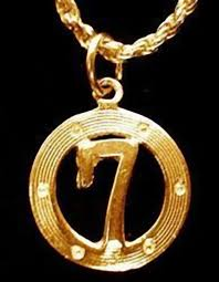 cool lucky number 7 seven pendant charm jewelry gold plated