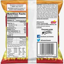 hot chipotle ranch cheetos jalapeno cheetos nutrition facts