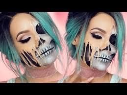 melting skull makeup tutorial popsugar beauty
