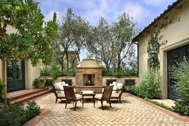 outdoors stunning herringbone brick patio garden near brick outdoor fireplace and sofa sets amazing brick