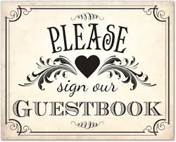 Vintage Guestbook Sign Template Downloadble Stationery 35611