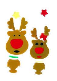 Magicgel Fensterbilder Weihnachten Rentiere Junge Und Mädchen 12 X 15 Cm Fensterdeko Für Das Basteln Mit Kindern